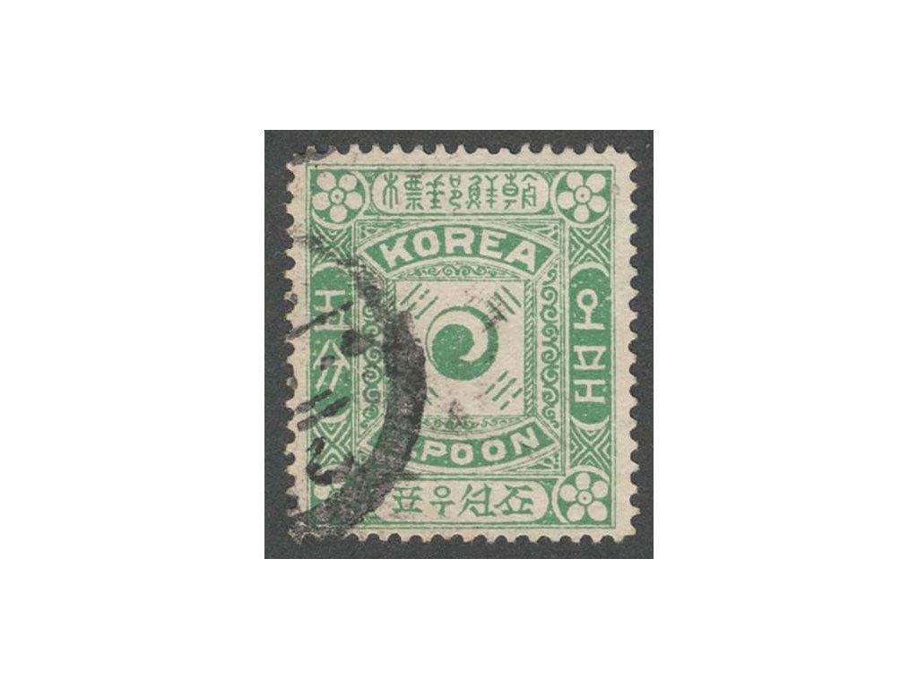 Korea, 1895, 5 P Znak, MiNr.3II, razítkované