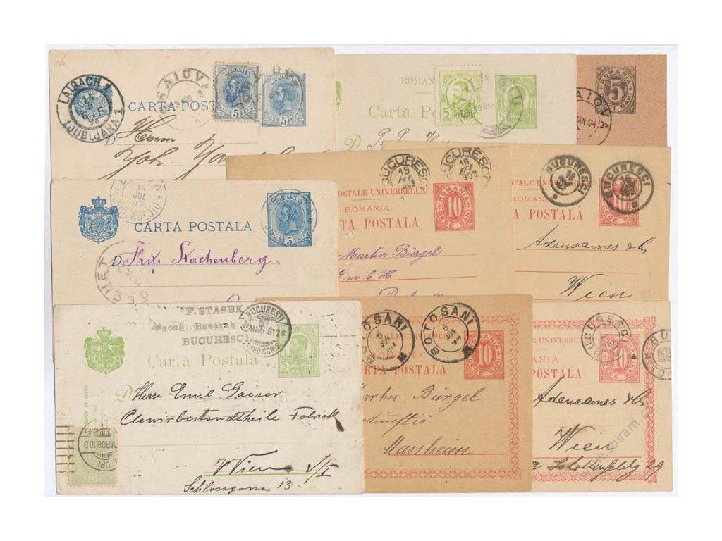 1896/1910, 13 ks dopisnic, prošlé v letech 1896-1910