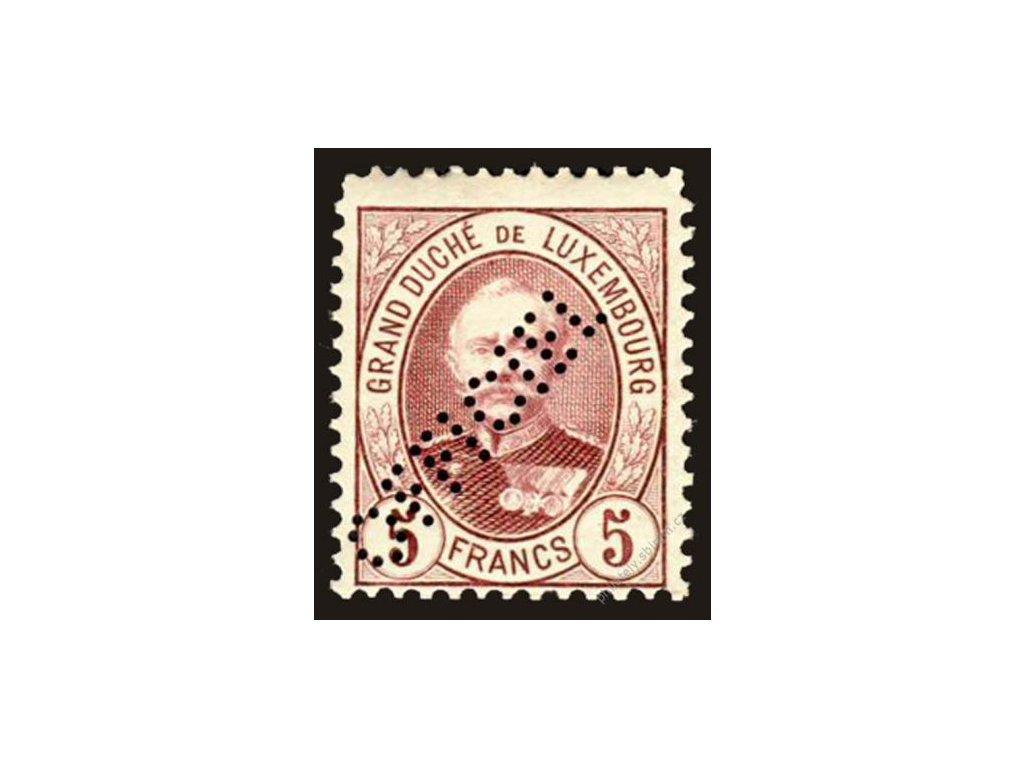 1899, 5Fr služební, MiNr.75, * po nálepce