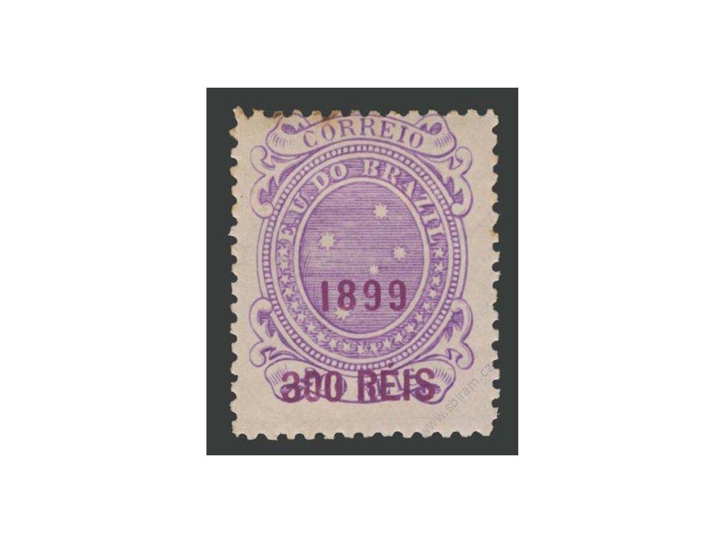 Brasílie, 1899, 300R/200R Hvězdy, těžší * , několik skvrnek