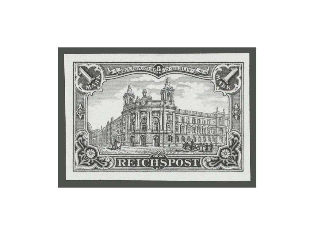 1900, 1M Pošta, černotisk, ND, rytina, MiNr.63, (*)