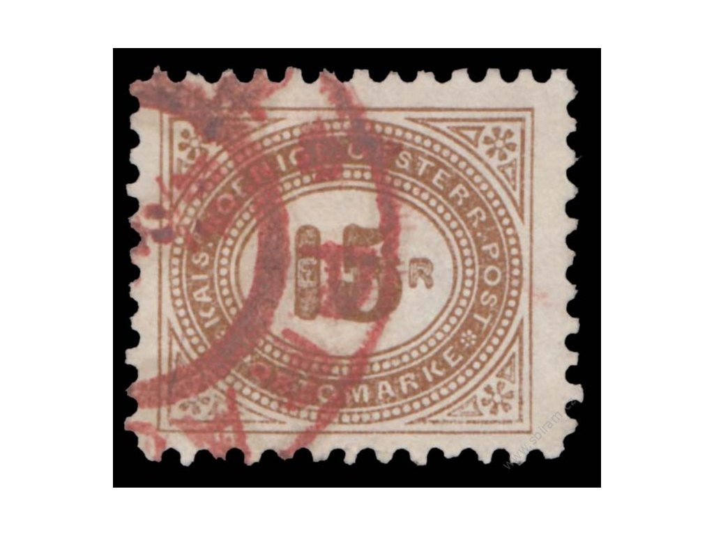 1900, 15H doplatní, L 10 1/2, červené razítko, MiNr.30C