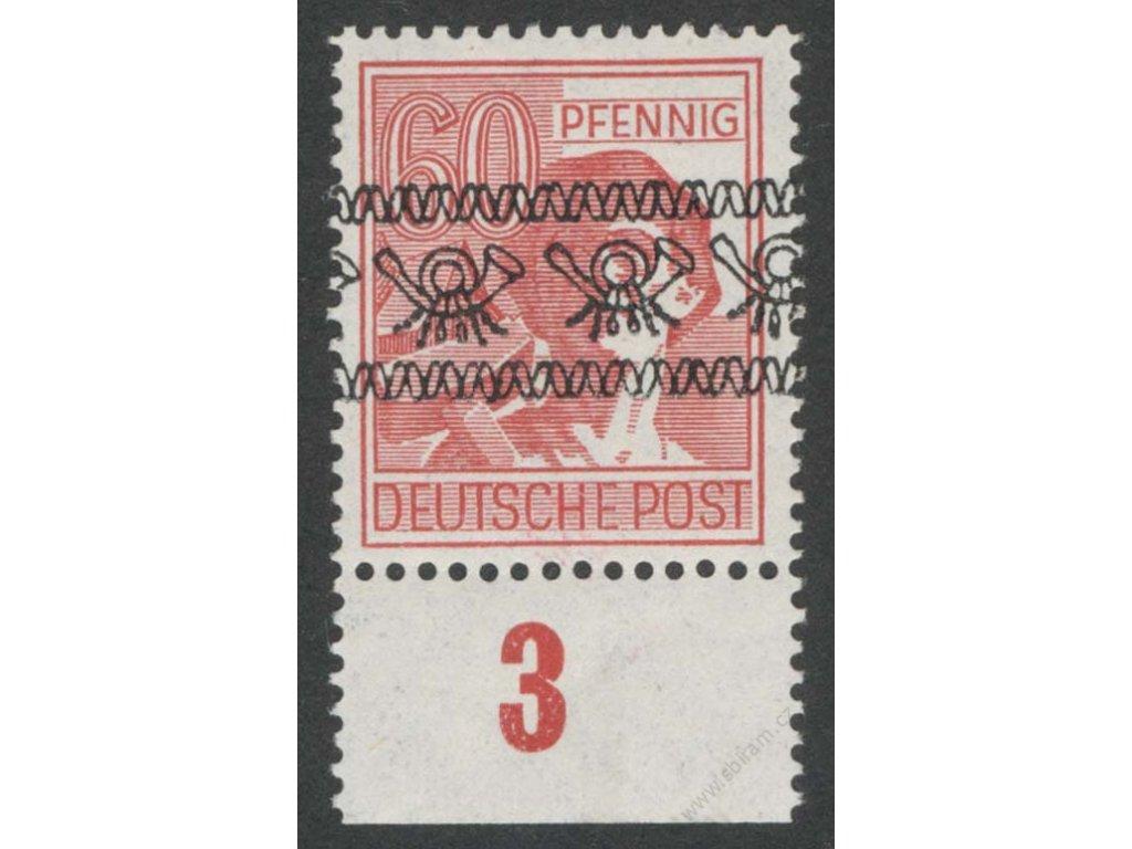 Americká a Britská zóna, 1948, 60 Pf Dělník, **