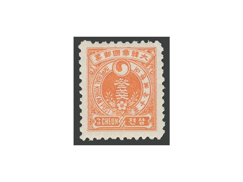 Korea, 1900, 3C Znak, MiNr.16, * po nálepce