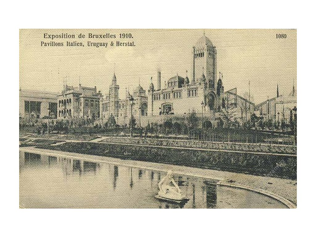 1910, DR Bruxelles, Exposition, pohlednice
