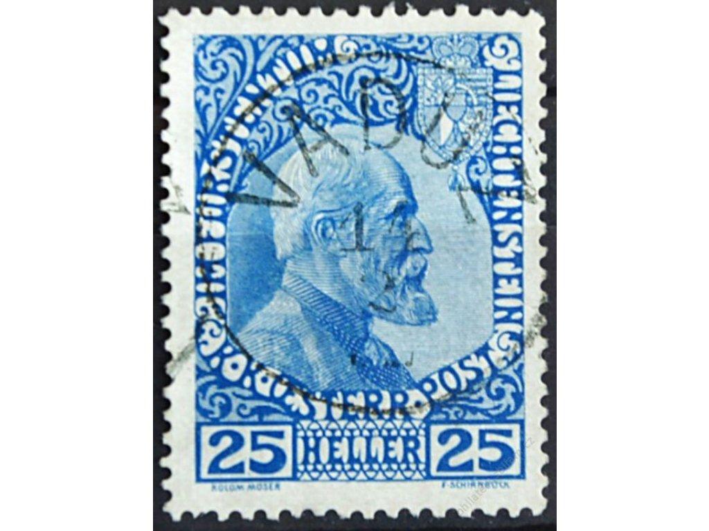 1912, 25H Johann, MiNr.3, razítkované