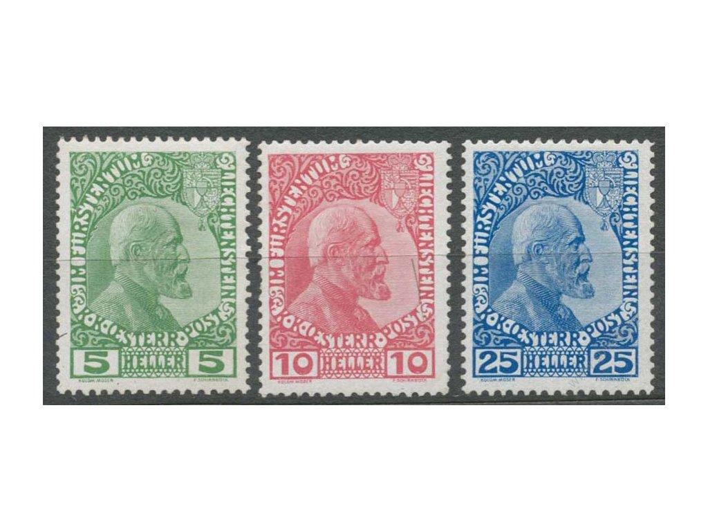 1912, 5-25H série Johan, MiNr.1-3, * po nálepce