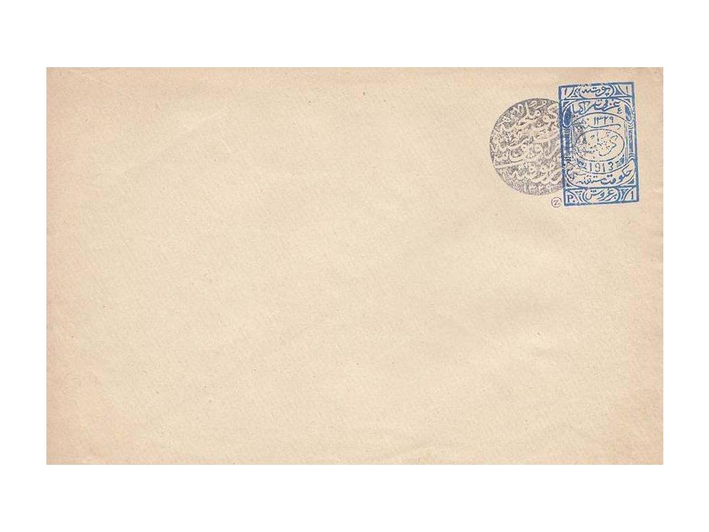1913, 1Pia celinová obálka, neprošlé, stopy stáří a omačkání