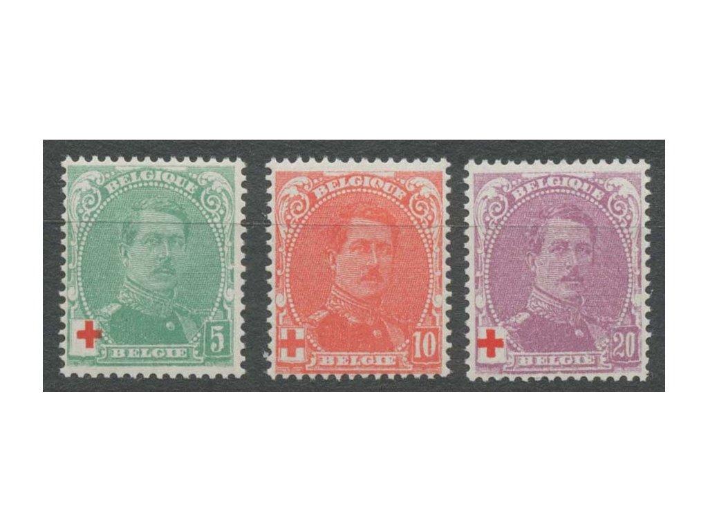 1914, 5-20C série Červený kříž, MiNr.107-9, **