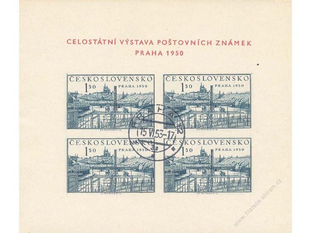 15.6.1953, DR Praha, aršík Praha 1950, Nr.A564, dv