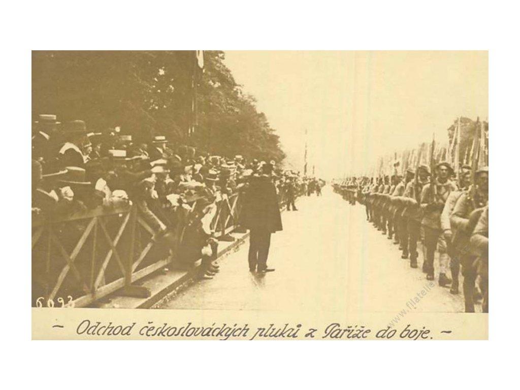 ČSPP ve Francii, 1917, pamětní pohlednice, neprošl