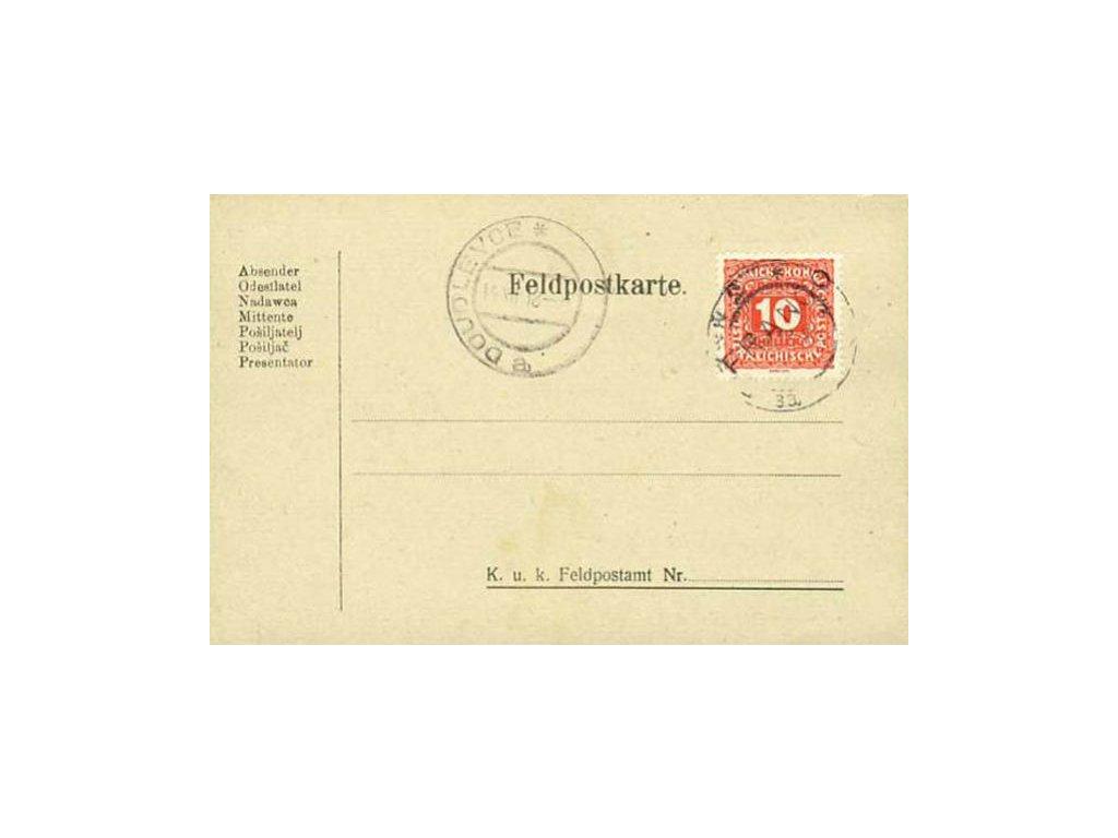 1918, DR Plzeň 13.12., PR Doudlevce, skvrnky