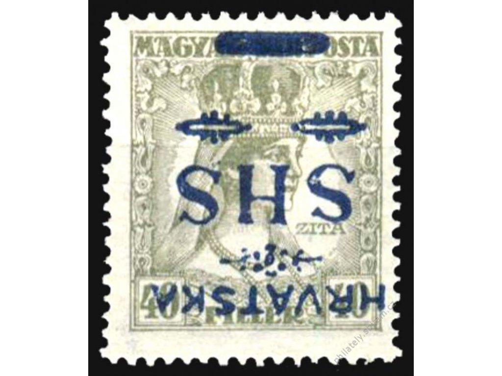 1918, 40f Zita, převrácený přetisk, těžší *