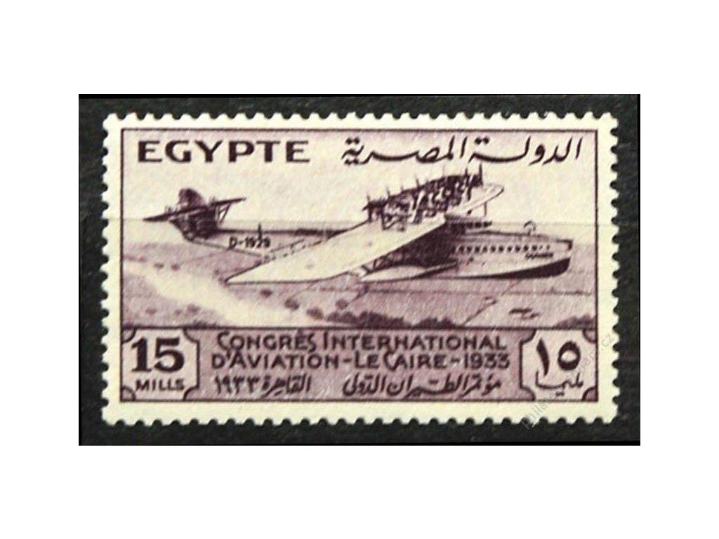 Egypt, 1933, 15M Letadlo, MiNr.189, * po nálepce