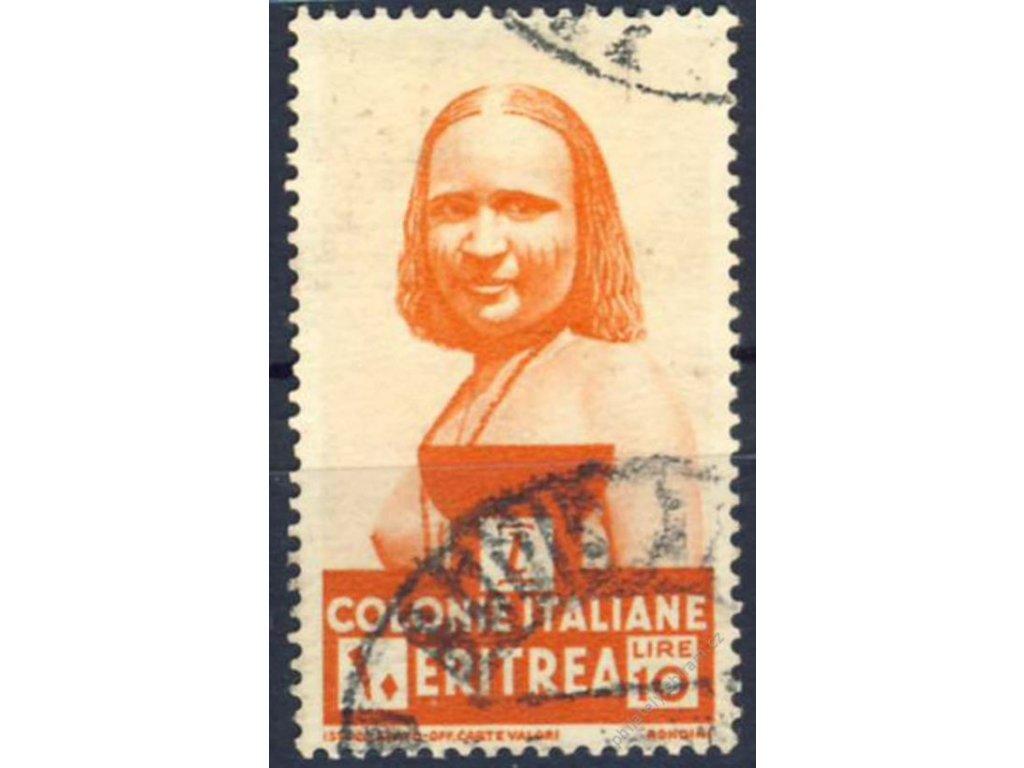 Eritrea, 1933, 10L oranžová, MiNr.213, razítkované
