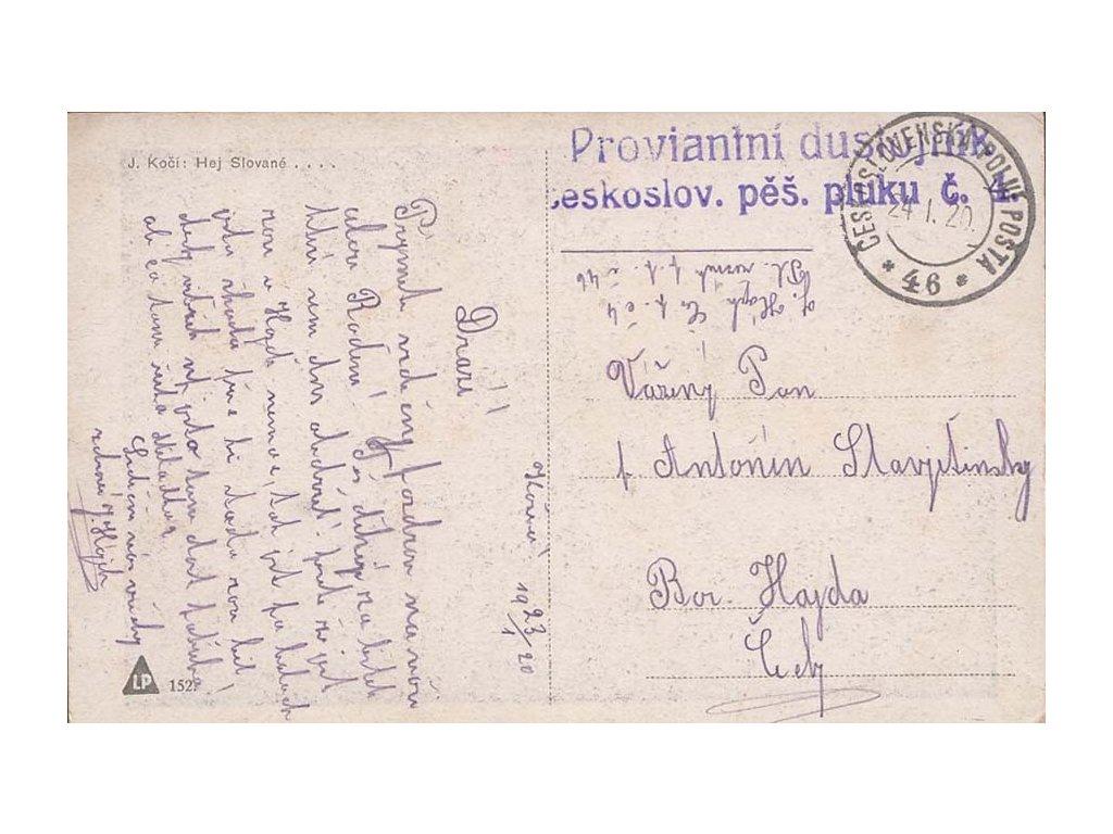 1920, ČSPP na Slovensku, Proviantní důstojník + PP No.46