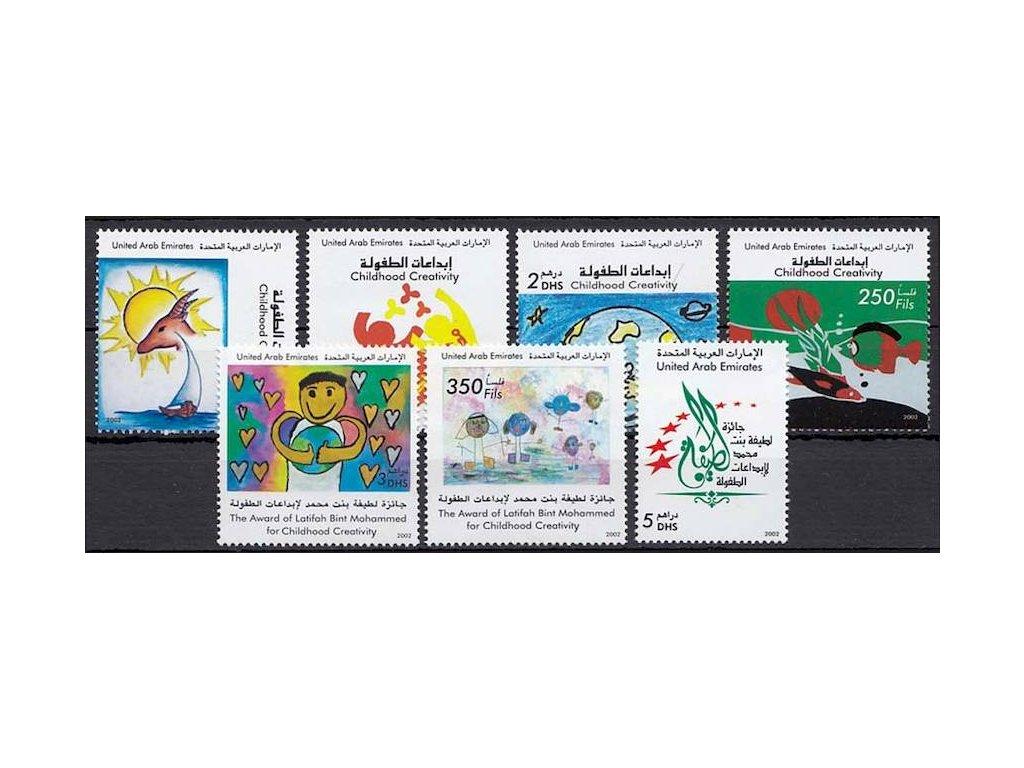 Emiráty, 2002, 50F-5Dh série Děti, MiNr.683-89, **
