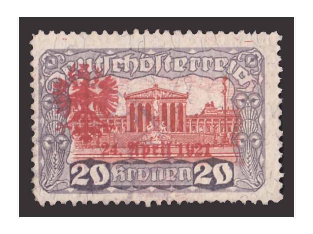 1921, Tiroly, 20Kr s přetiskem, lokální vydání, razítkované, dv