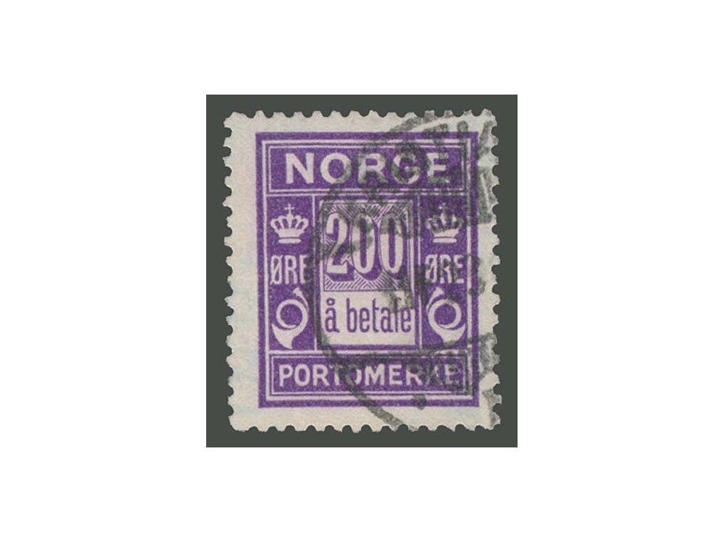 1921, 200Q doplatní, MiNr.12, razítkované