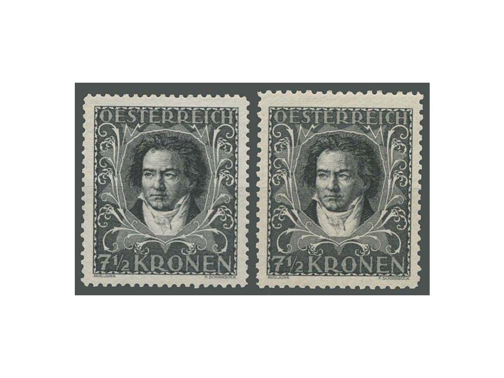 1922, 7 1/2Kr Beethoven, L 11 1/2 a 12 1/2, * po nálepce