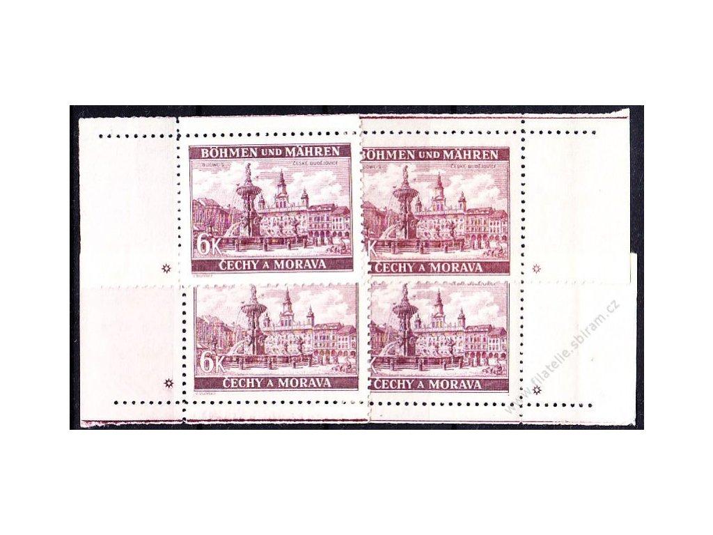6K České Budějovice, roh. miniatura, varianta hvězdička, Nr.46, **