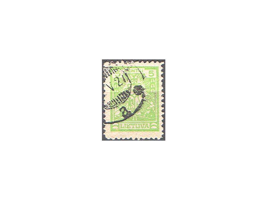 Lietuva, 1923, 5C Litauisches Kreuz,  razítkovaná