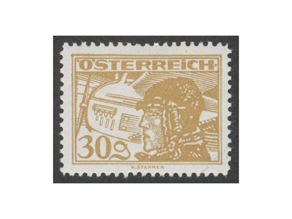 1925, 30g letecká, MiNr.476, * po nálepce