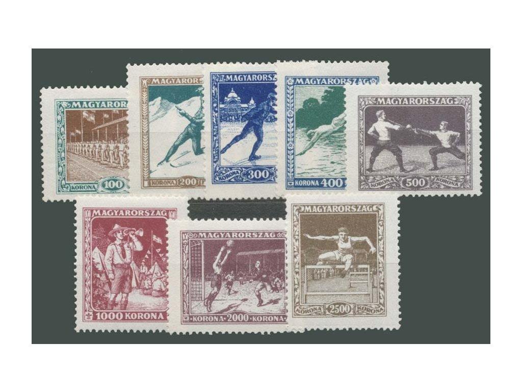 1925, 100-2500Kr série Sport,  * po nálepce, 200Kr dv