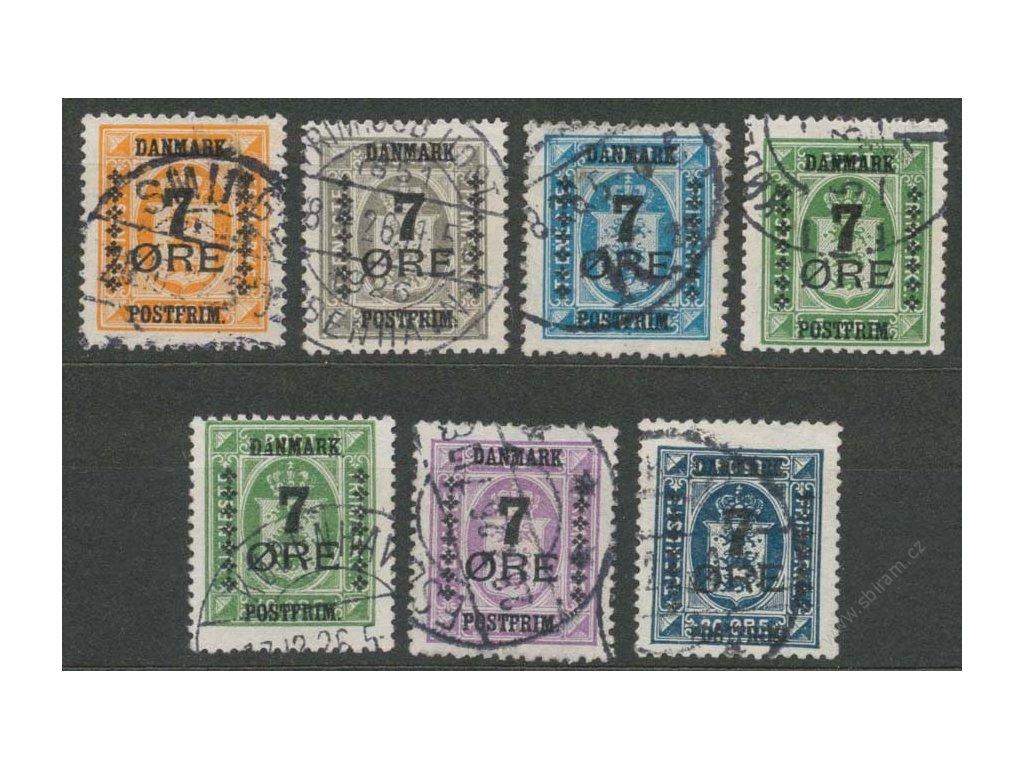 1926, 7Q/1Q-7Q/20Q série, MiNr.159-65, razítkované