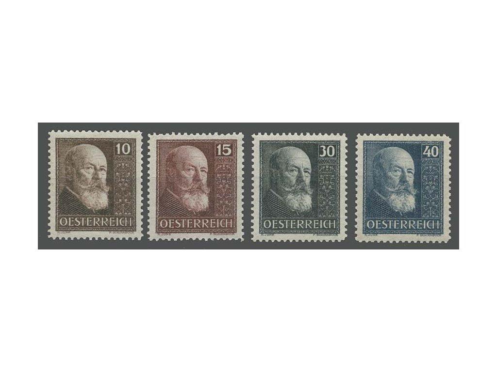 1928, 10-40g série Hainisch, MiNr.494-97, **