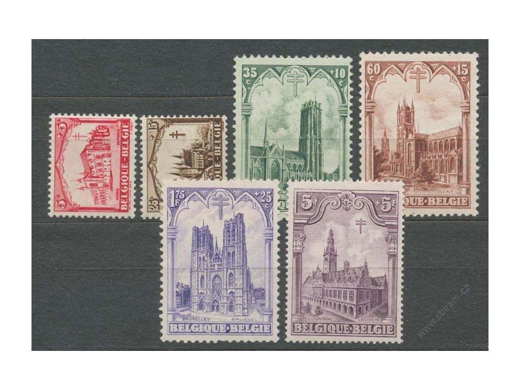 1928, 5C-5Fr série, MiNr.244-49, ** , drobné vlomy
