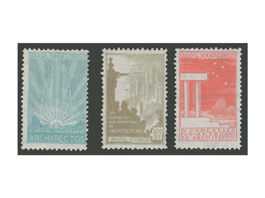Brasílie, 1930, 100-300R série Architektura, * po nálepce
