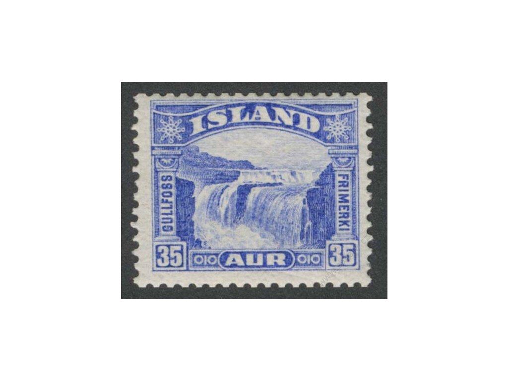 1931, 35A Vodopád, MiNr.152, * po nálepce