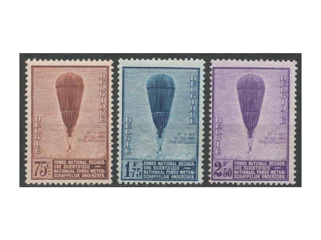 1932, 75C-2.50Fr série Balón, MiNr.344-46, **