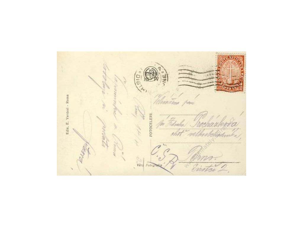 1933, DR Roma, pohlednice vyfr. MiNr.18