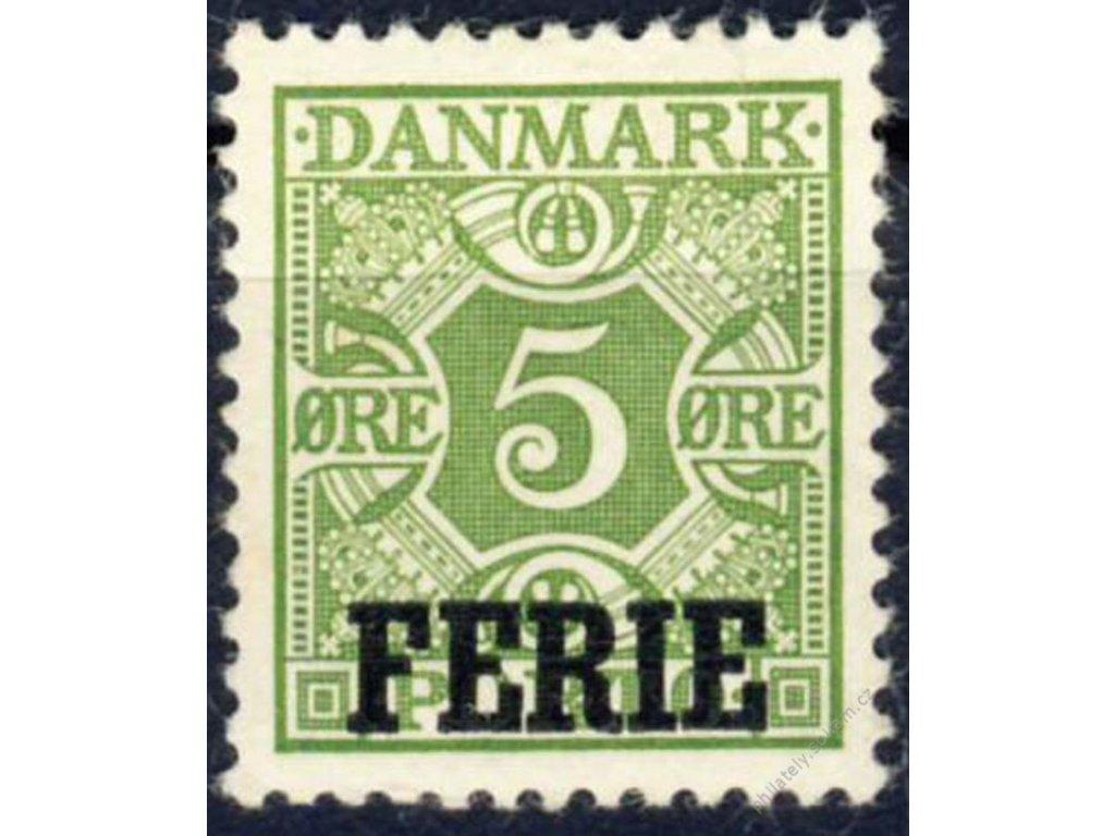 1934, 5Q doplatní s přetiskem FERIE (Prázdniny)