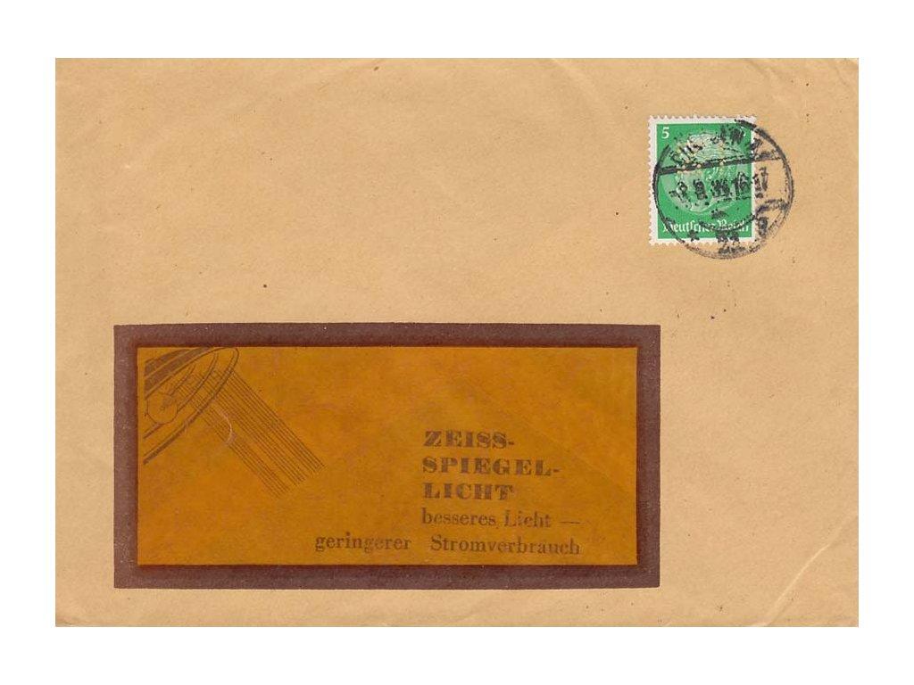 Německo, 1934, DR Berlin, perfin Z I, drobná omačkání