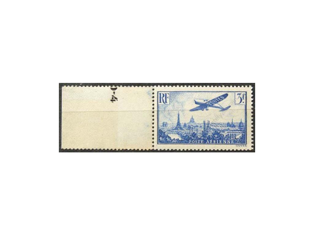 1936, 3Fr letecká známka, * po nálepce