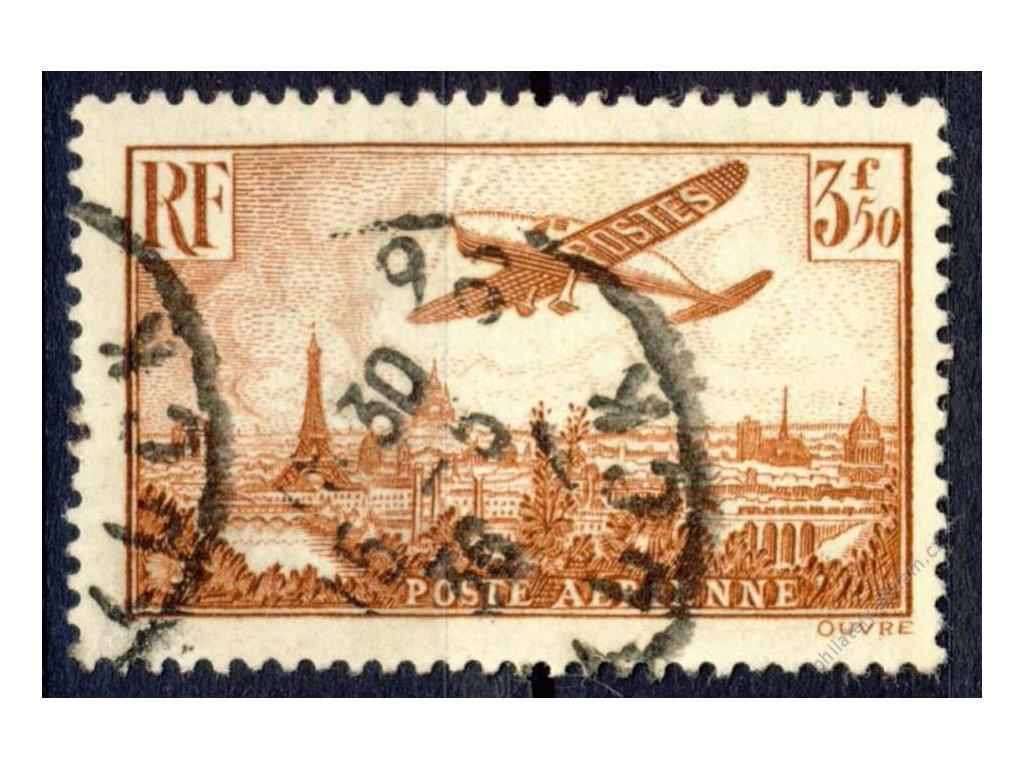 1936, 3.50Fr letecká, MiNr.310, razítkované