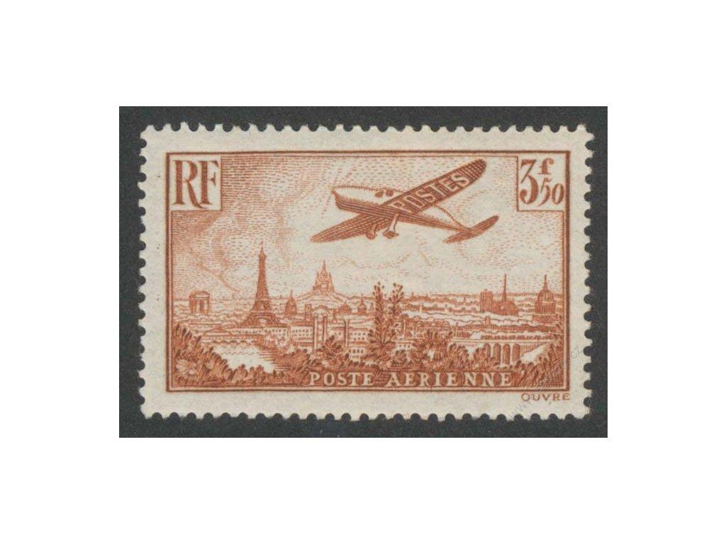 1936, 3.50Fr letecká, MiNr.310, ** , dv