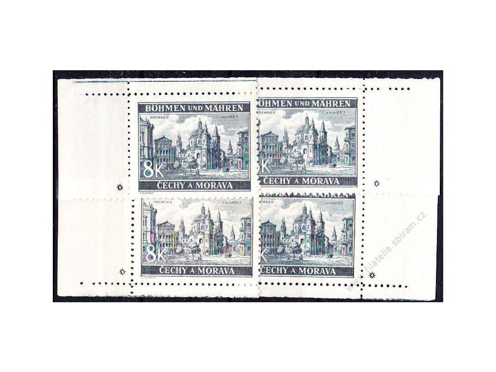 8K Kroměříž, roh. miniatura, varianta hvězdička, Nr.47, **