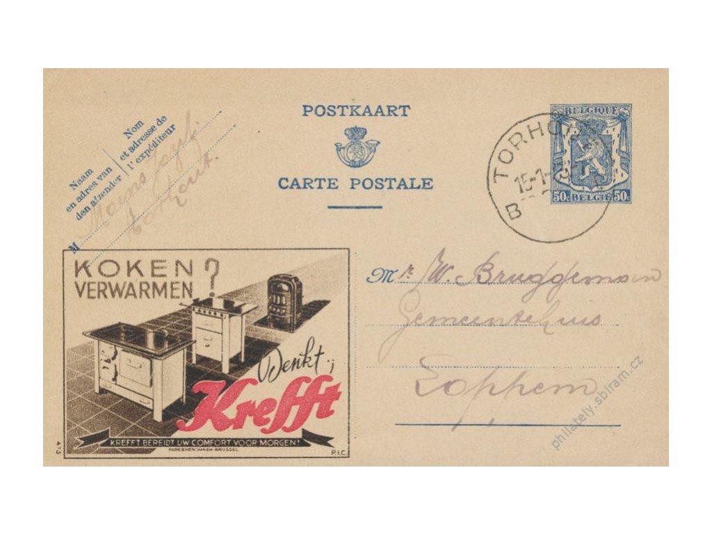 1943, DR Torhout, dopisnice 50C s přítiskem