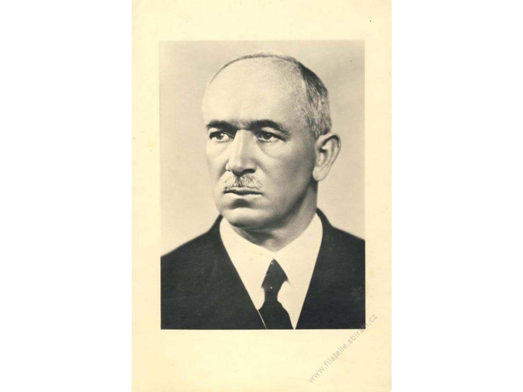 1946, Beneš, velká portrétní fotografie, 193x292mm