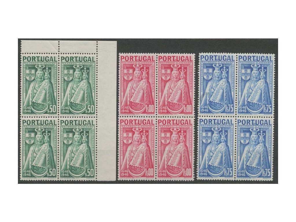 1946, 50 C, 1 E a 1.75 E Madona, 4bloky, **