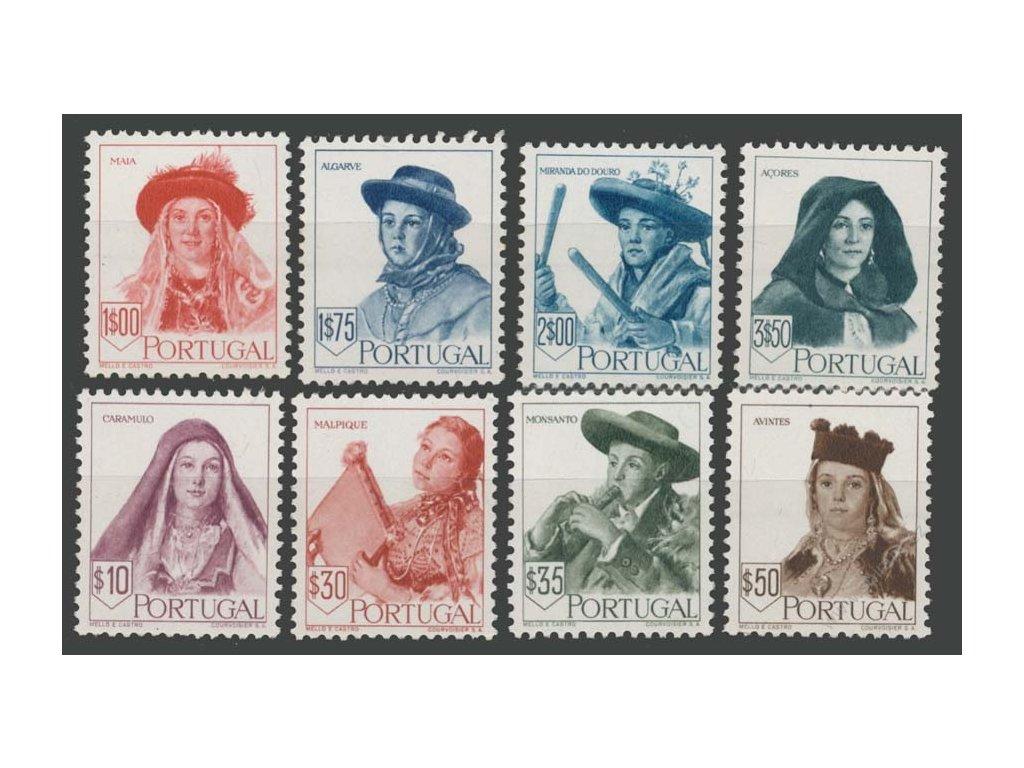 1947, 10C-3.50E série Kroje, MiNr.706-13, ** , faldy