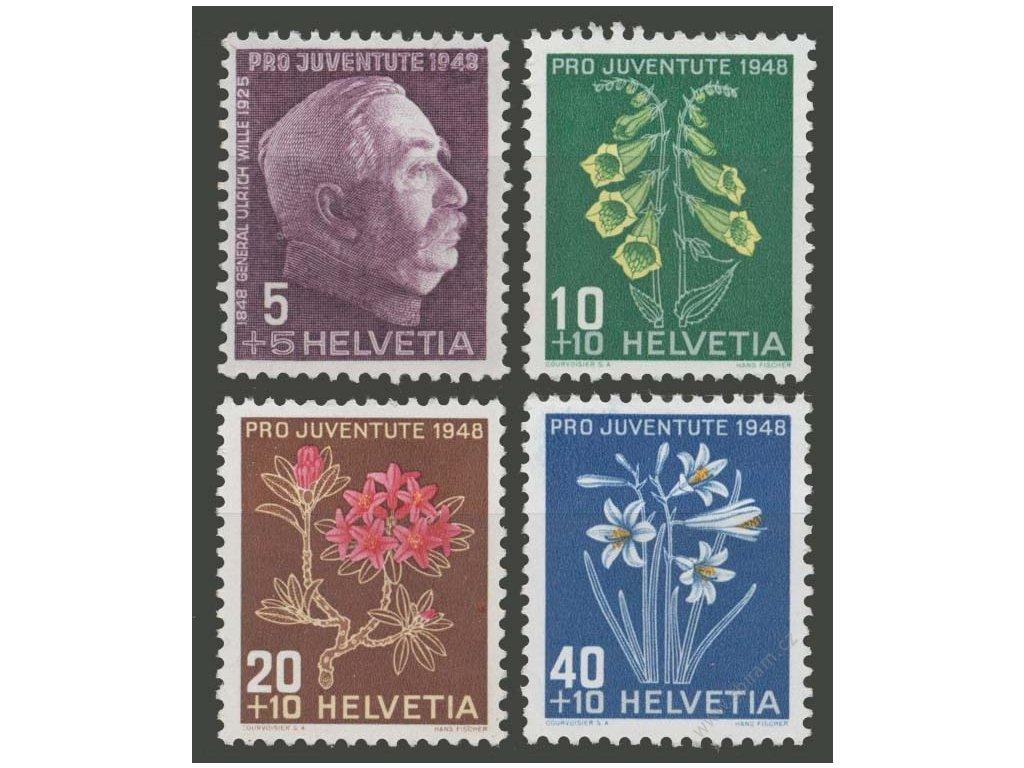 1948, 5-40C série, MiNr.514-17, **