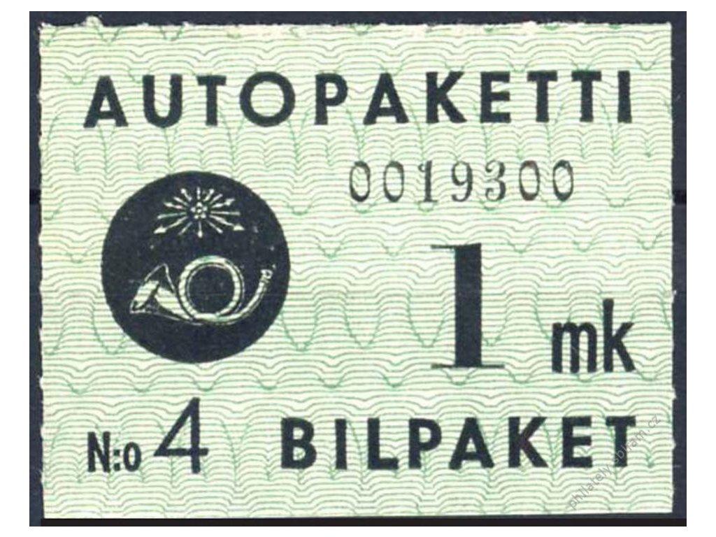 1949, 1M Auto-Paketmarken, MiNr.1, * po nálepce