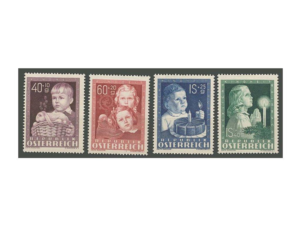 1949, 40g-1.40S série Děti, MiNr.929-32, * po nálepce