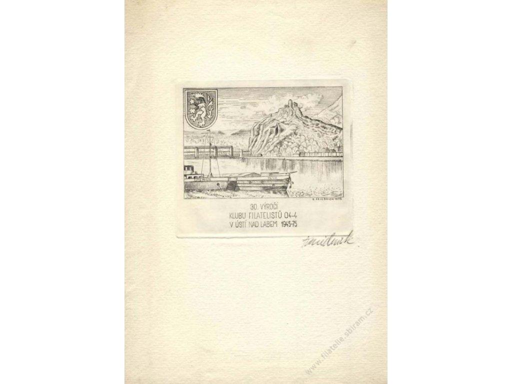 Fridrich, rytina z roku 1975, A5, ruční papír