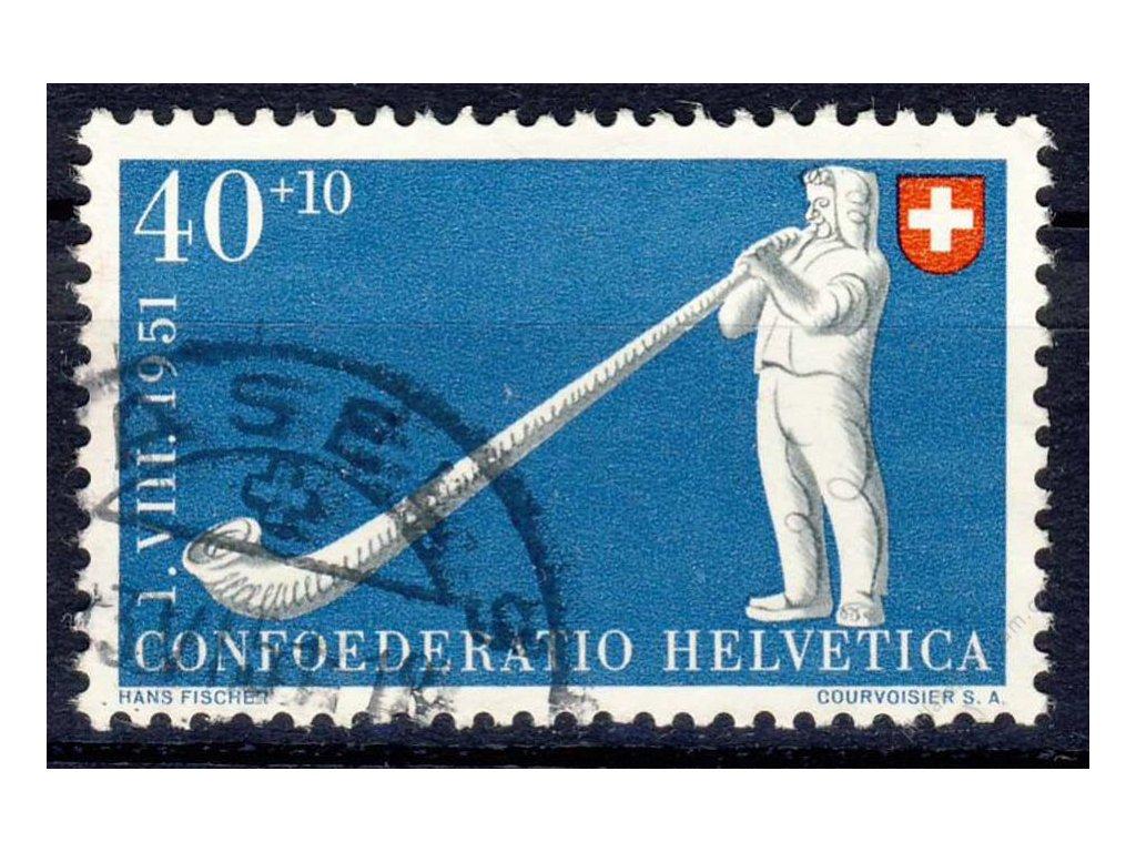 1951, 40C Trubač, MiNr.559, razítkované